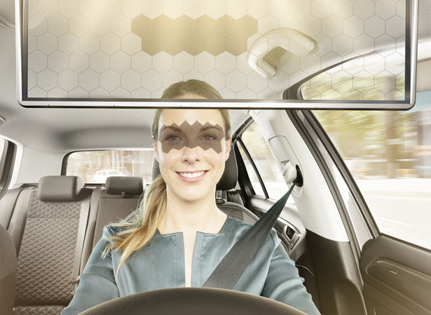 Intelligent Glare-Eliminating Car Visors
