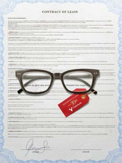 Contract-Magnifying Eyewear Ads