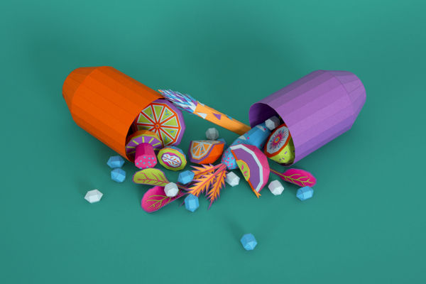 Medication-Inspired Paper Art