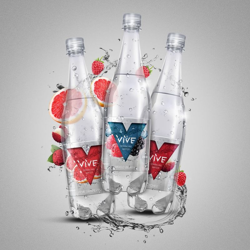 High-End Sparkling Water Branding