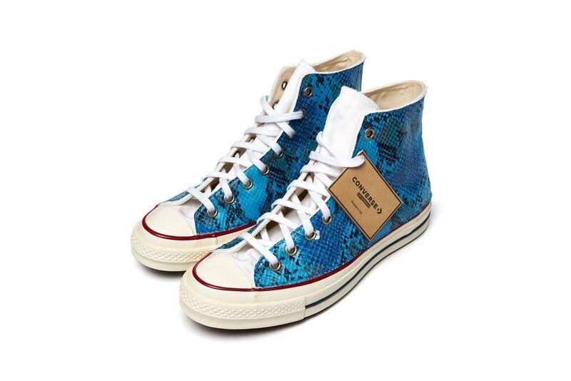 Vivid Snakeskin Sneakers