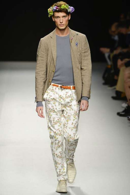 Floral-Geared Menswear