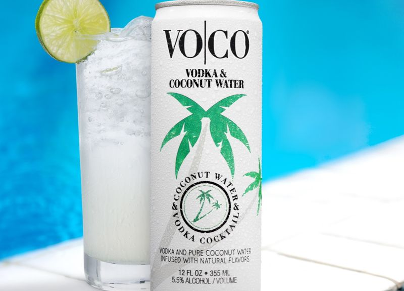 Canned Coconut Water Cocktails