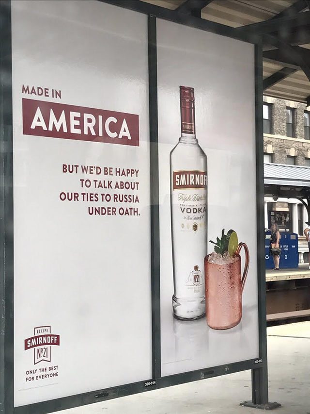 Political Vodka Ad Campaigns
