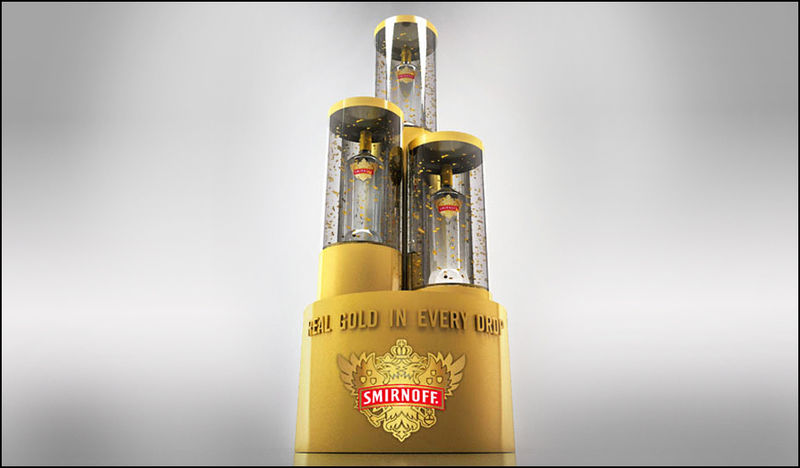 Podium-Inspired Vodka Displays