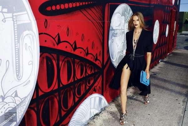 Elegant Graffiti-Filled Editorials