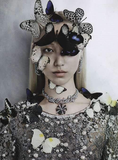 Butterfly-Accessorized Editorials