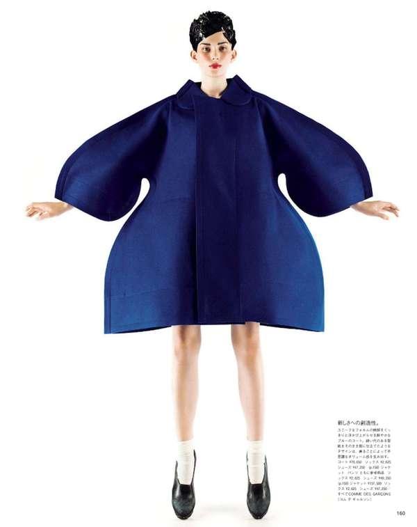 Sleek Bulbous Overcoats