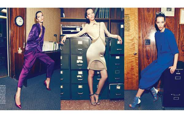 Fashion-Forward Office Editorials