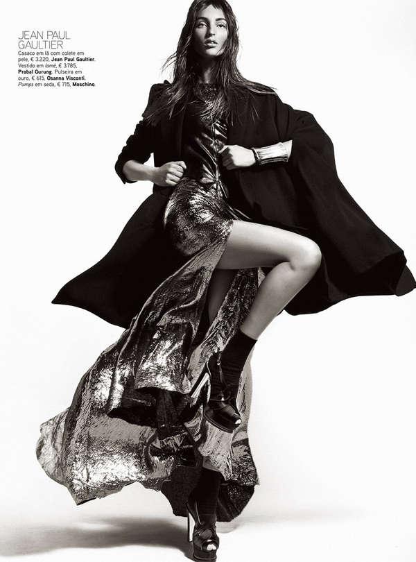 Shimmering Feminine Fashion
