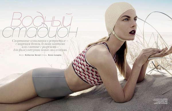 Retro-Inspired Swimsuit Editorials