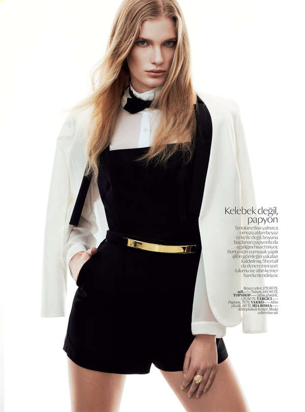 Chic Tuxedo-Like Fashion