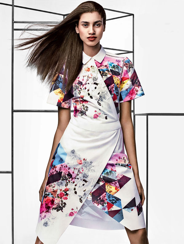 Geometric Floral Fashion Editorials
