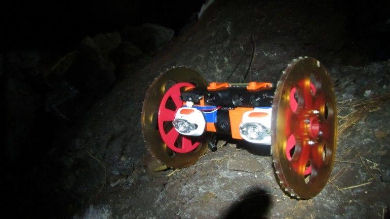 Volcano-Exploring Robots