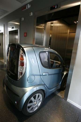 Elevator-Sized Electric Cars