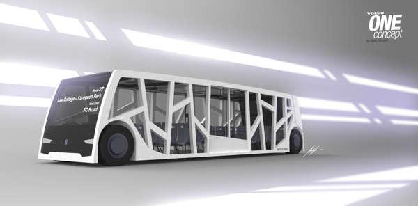 Bare-Boned Modern Buses