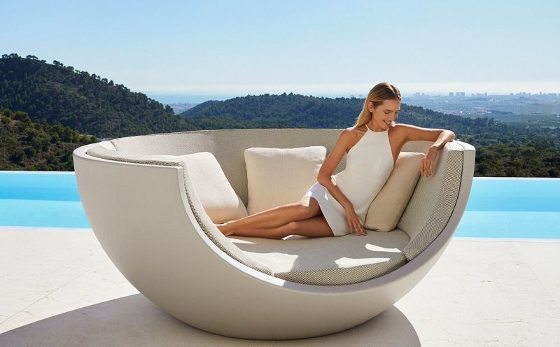 Domed Rotating Outdoor Loungers