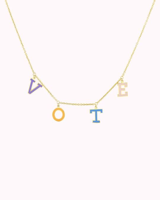 Ethical Voting-Encouraging Necklaces