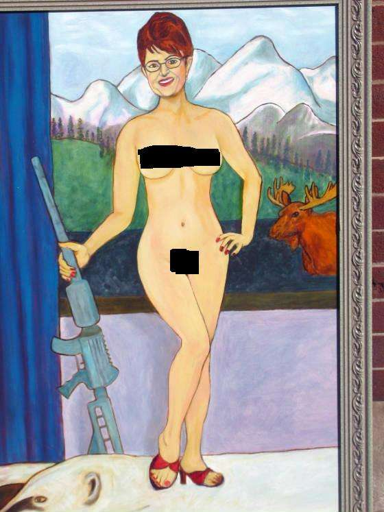 Naked sarah palin painting
