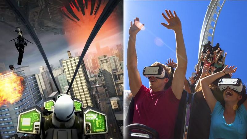 Alien-Fighting VR Roller Coasters