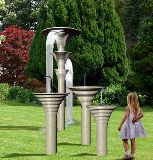 Sculptural Outdoor Showers