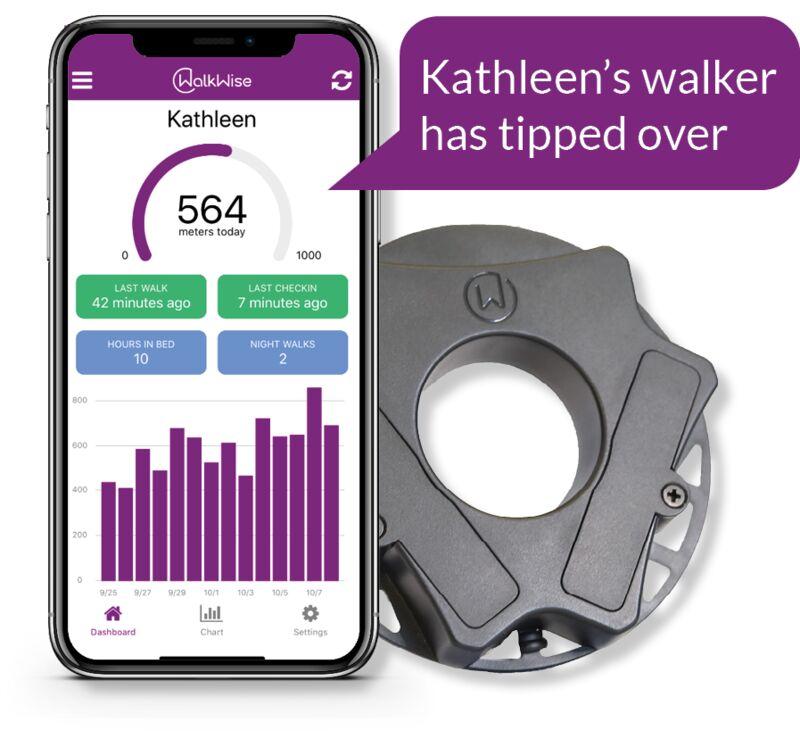Smart Walker Attachment Releases