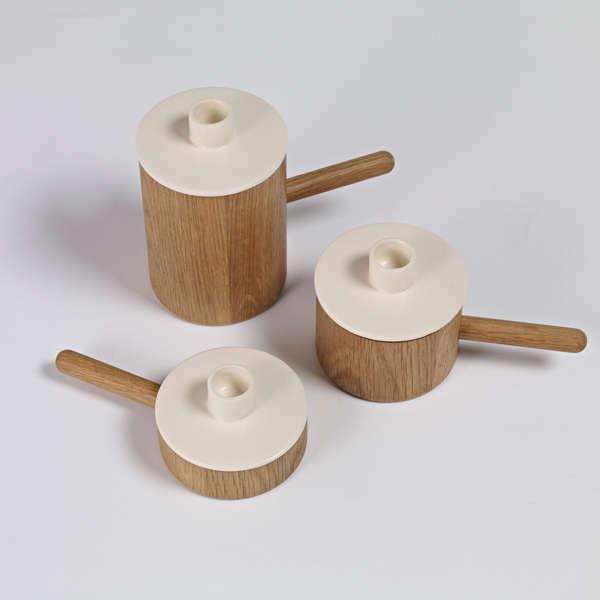 Simplistic Ceramic Candelabras