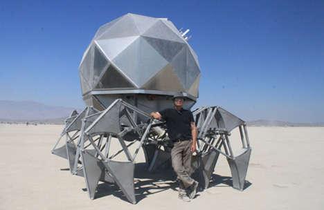 Geodesic Walking Pod Robots