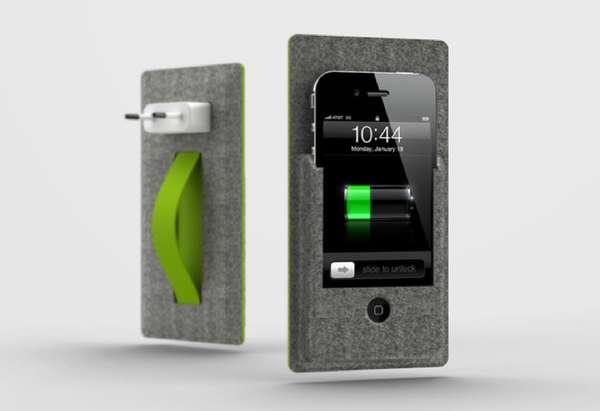 Felt Pocket Phone Chargers