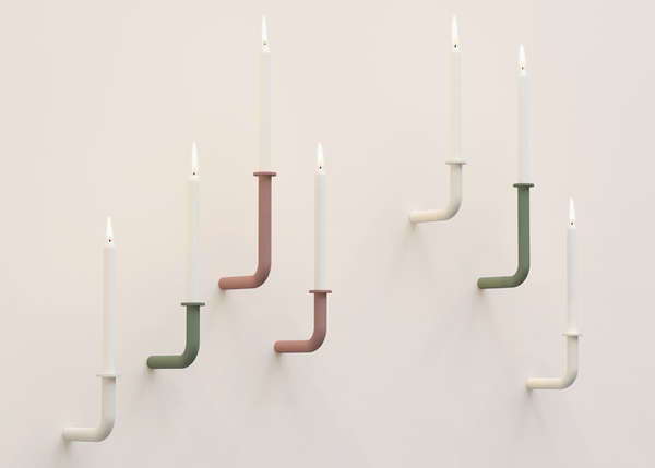 Pipe-Like Candle Holders