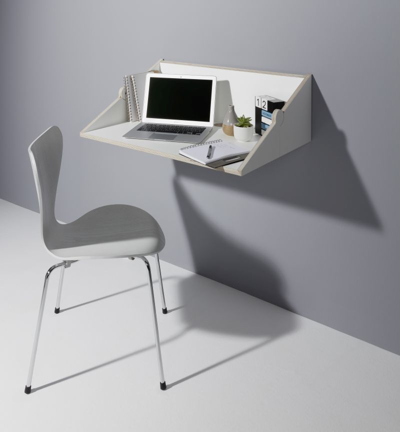 Transforming Wall-Mounted Desks