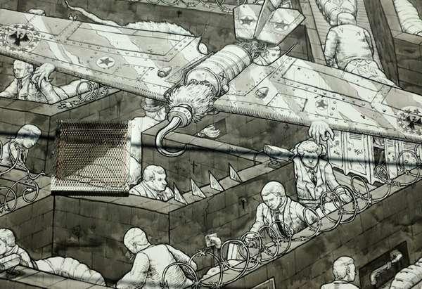 Anti-Banker Street Art