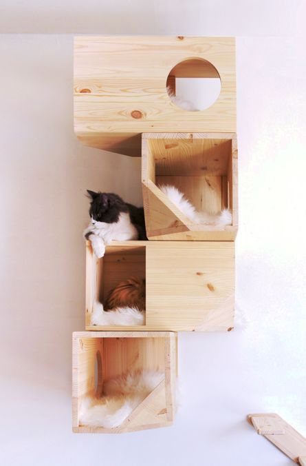 Geometric Cat Houses Wall Mounted Cat House