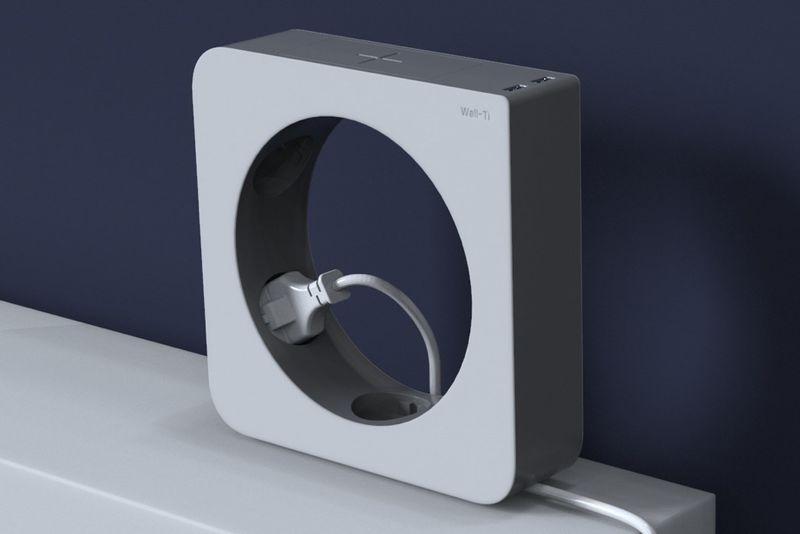 Rotating Wall-Mounted Power Bars