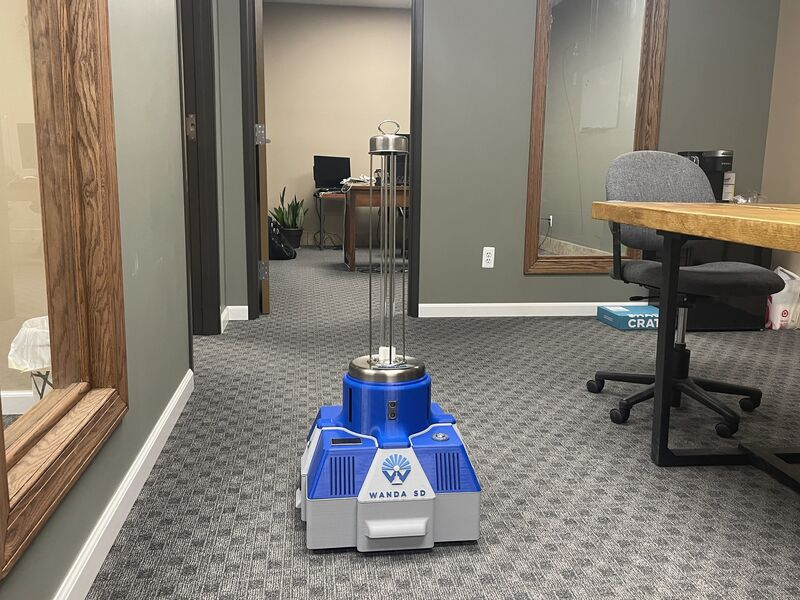 Cost-Effective Disinfecting Robots