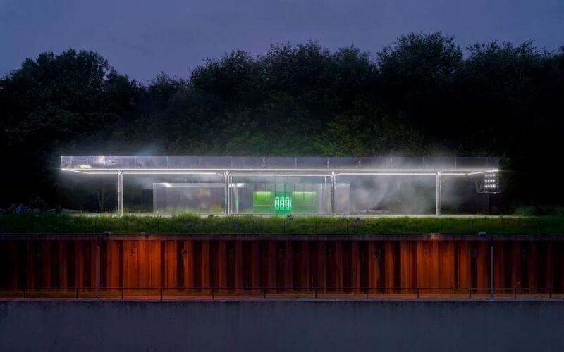 Petrol Station Mirrored Installations