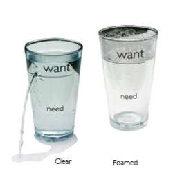 Want vs. Need Glass
