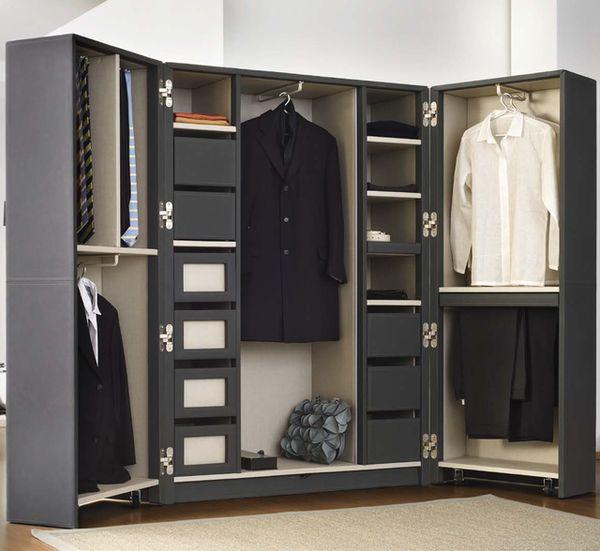 Elegant Leather Wardrobe Units