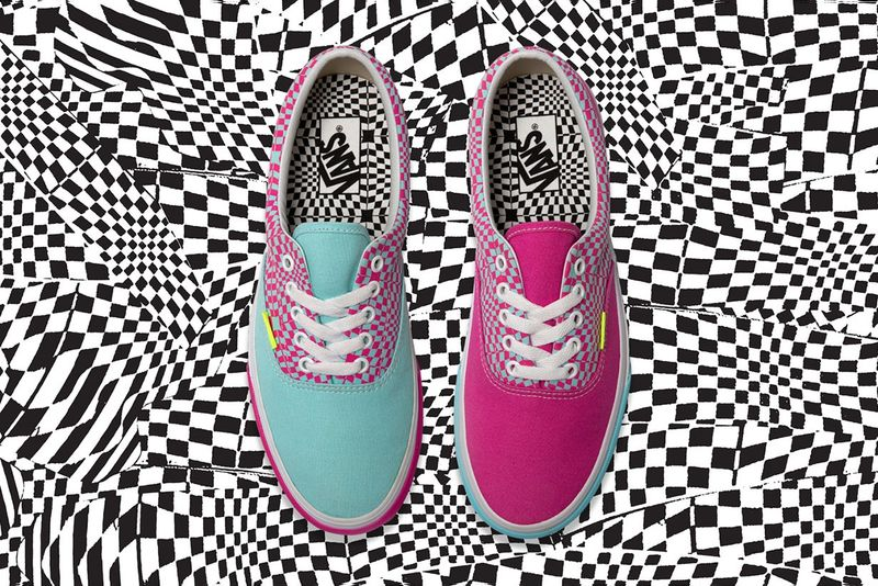 Psychedelic Printed Canvas Sneakers