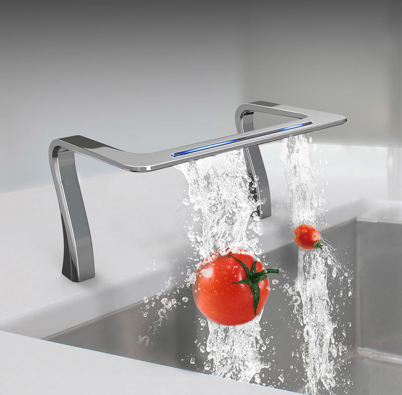 Futuristic Waterfall-Inspired Sinks