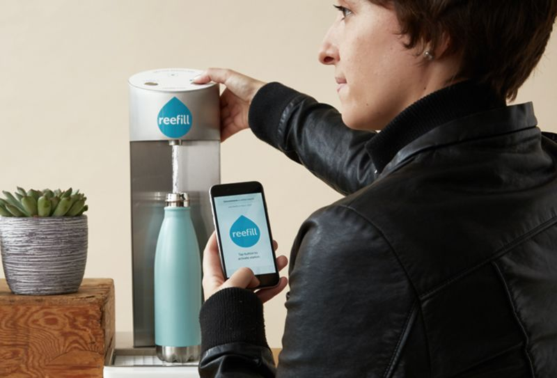 Smartphone-Connected Fountains