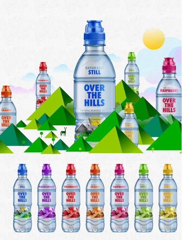 Mountainous Water Labels
