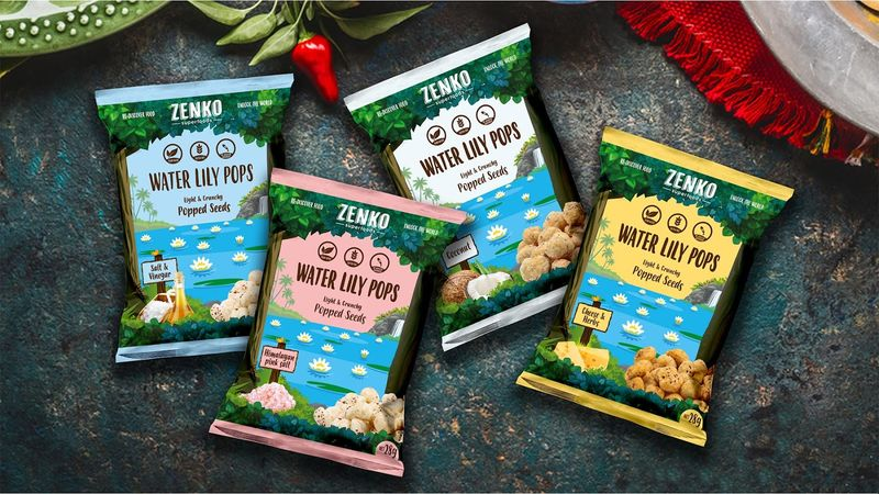 Floral Popped Seed Snacks