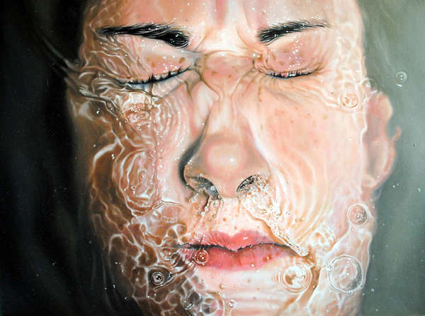 Hyper-Realistic Water Paintings
