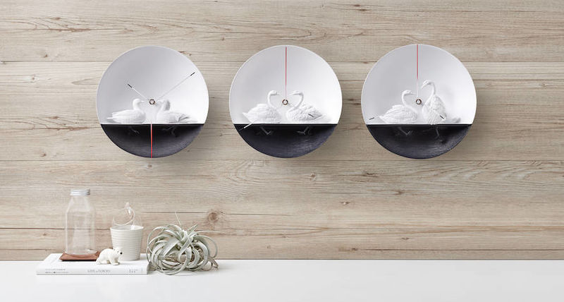 Elegant Waterbird Clocks