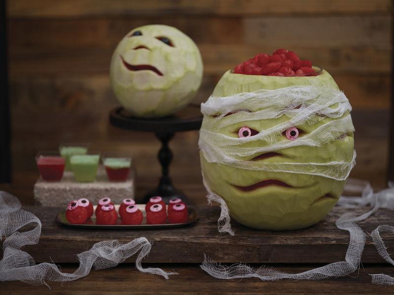 Spooky Watermelon Carvings