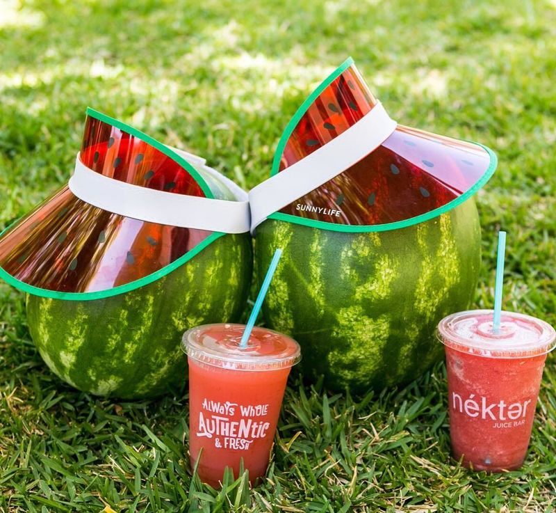 Locally Sourced Watermelon Drinks