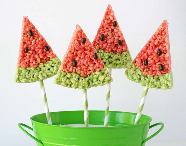 Faux Melon Marshmallow Sweets