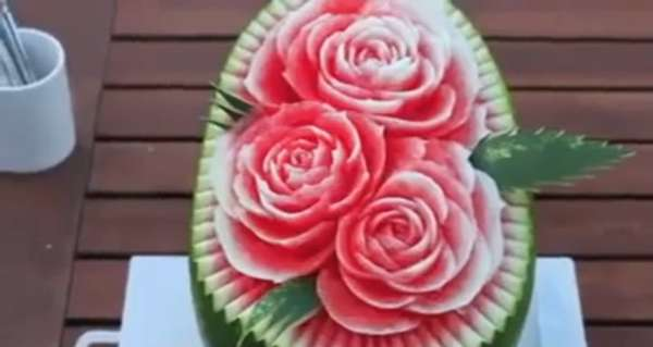 Melon-Made Flower Gardens