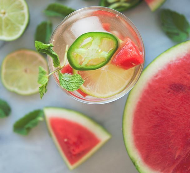 Spicy Watermelon Sangrias